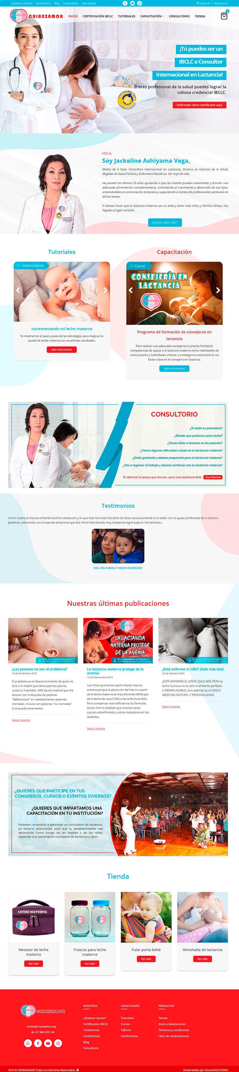 CRIANZAAMOR - Página web
