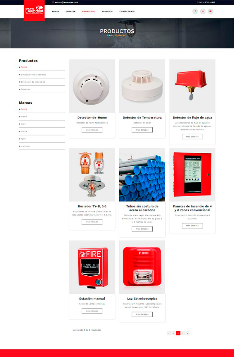 LARCONSPA - Productos