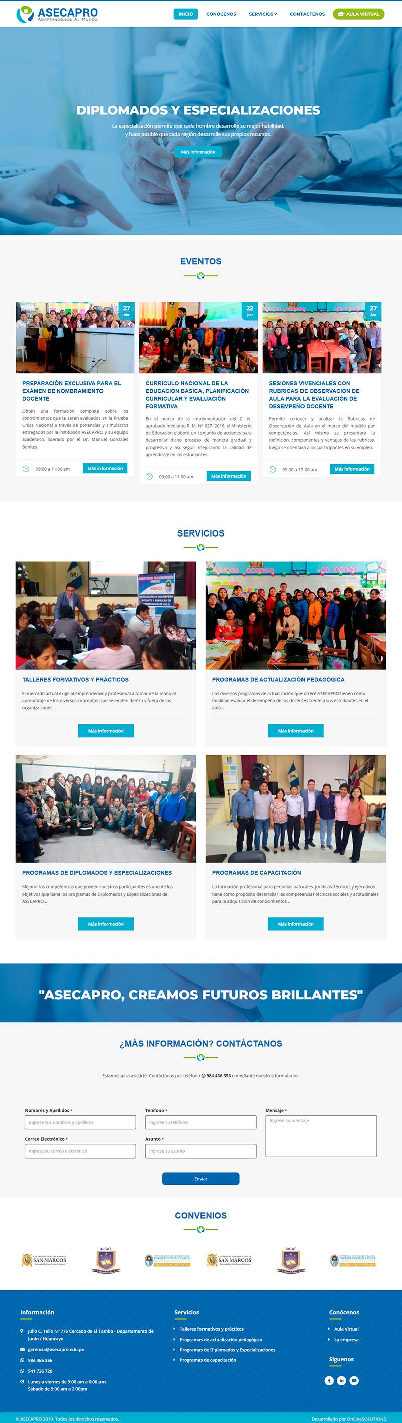 ASECAPRO - Página web