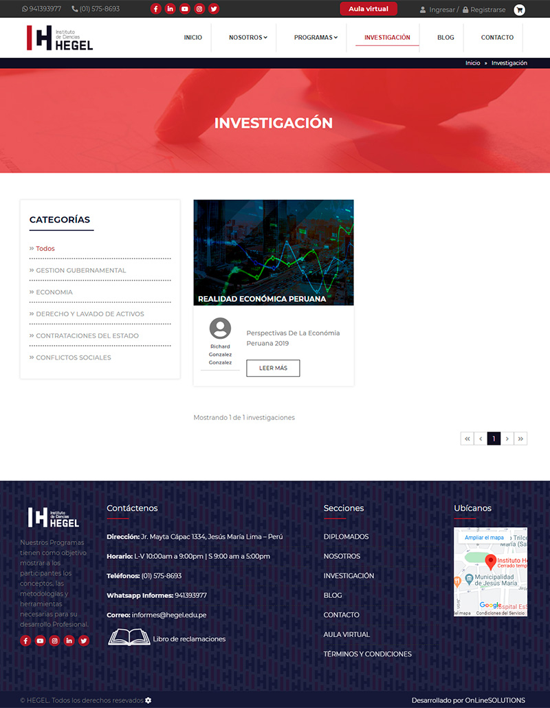 HEGEL - Investigacion