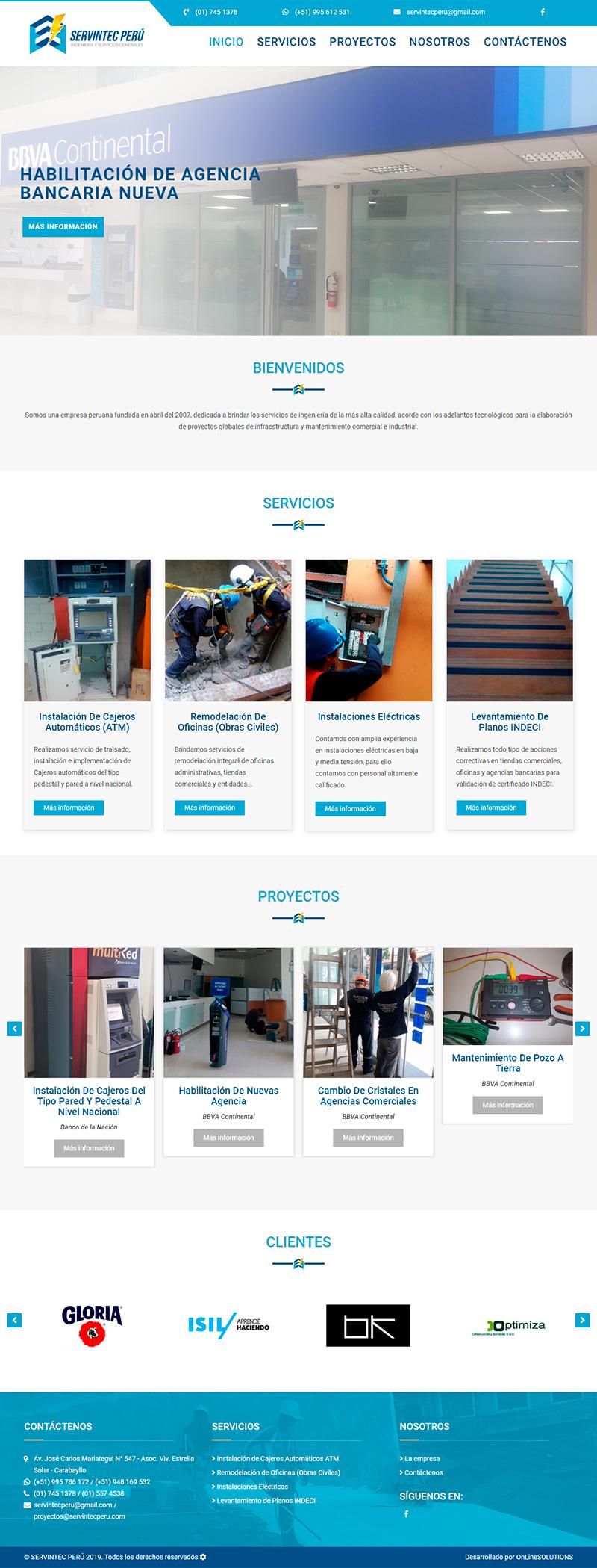 SERVINTEC PERU - Página web