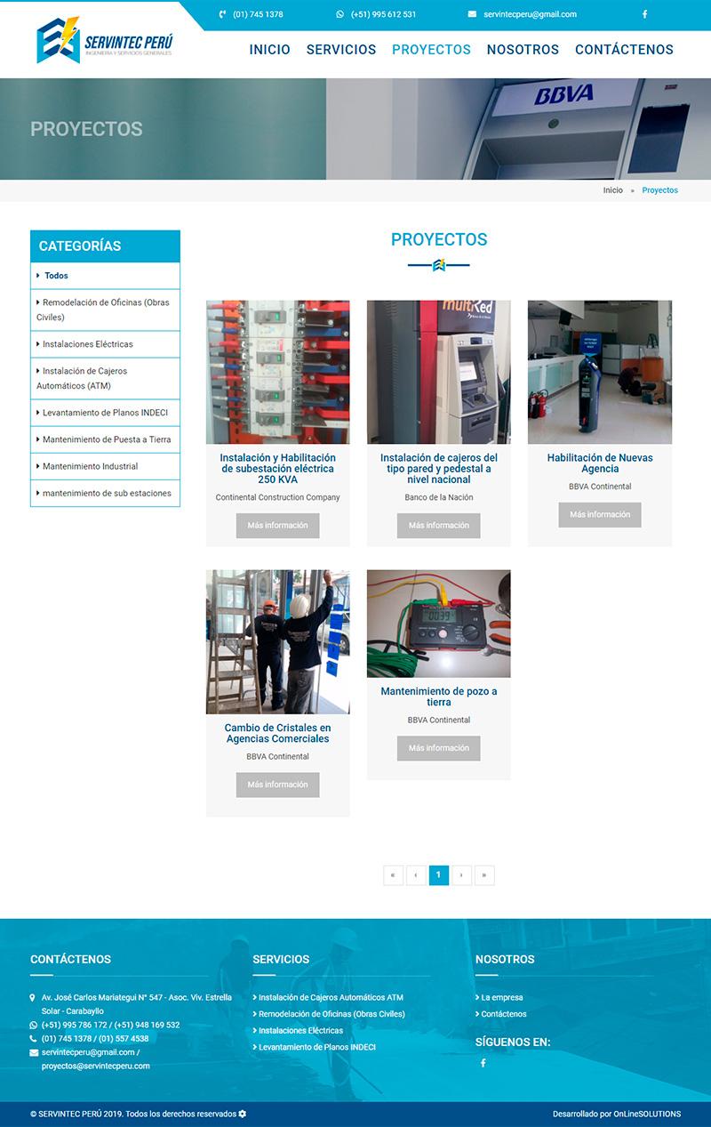 SERVITEC - Proyectos