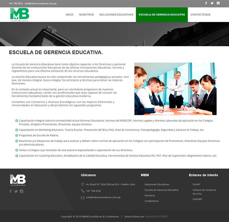 MBM CONSULTORES - Escuela de gerencia educativa
