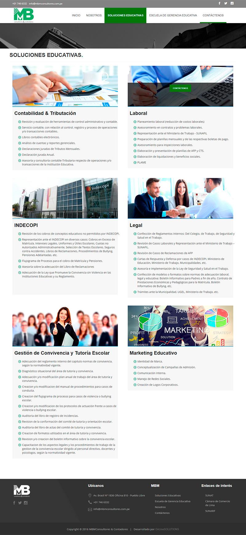MBM CONSULTORES - Soluciones educativas