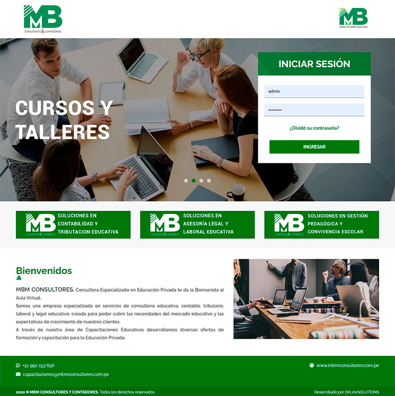MBM CONSULTORES - Aula virtual