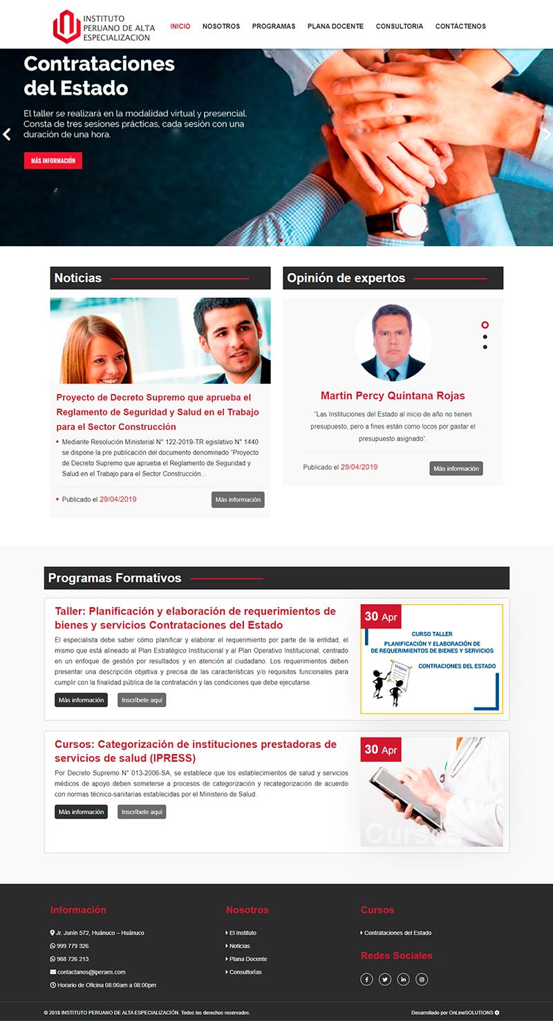 Iperaes Pagina Web Administrable