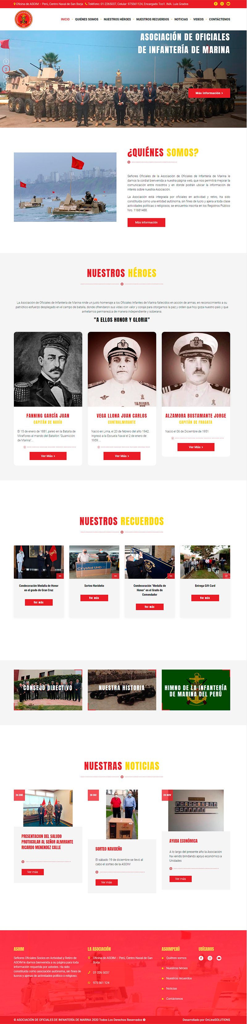 ASOIM Página Web Administrable