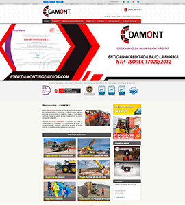 DAMONT Página Web