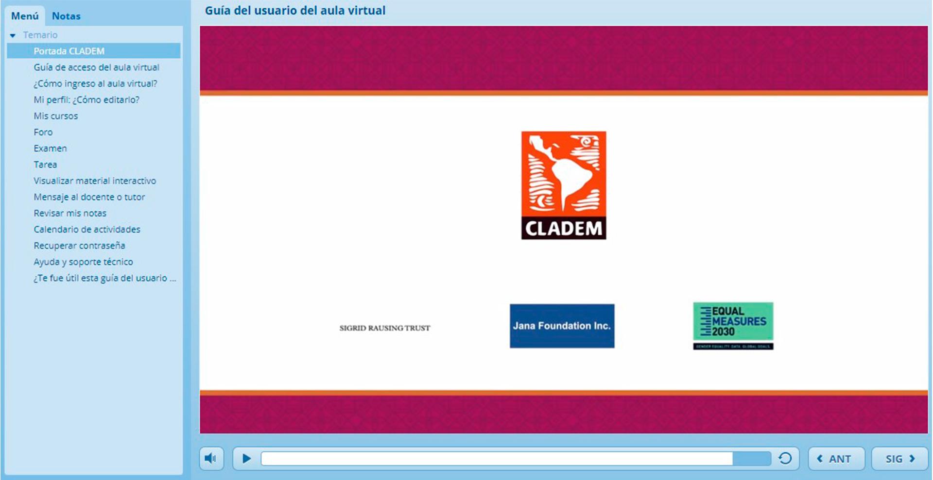 CLADEM Guía del uso del aula virtual