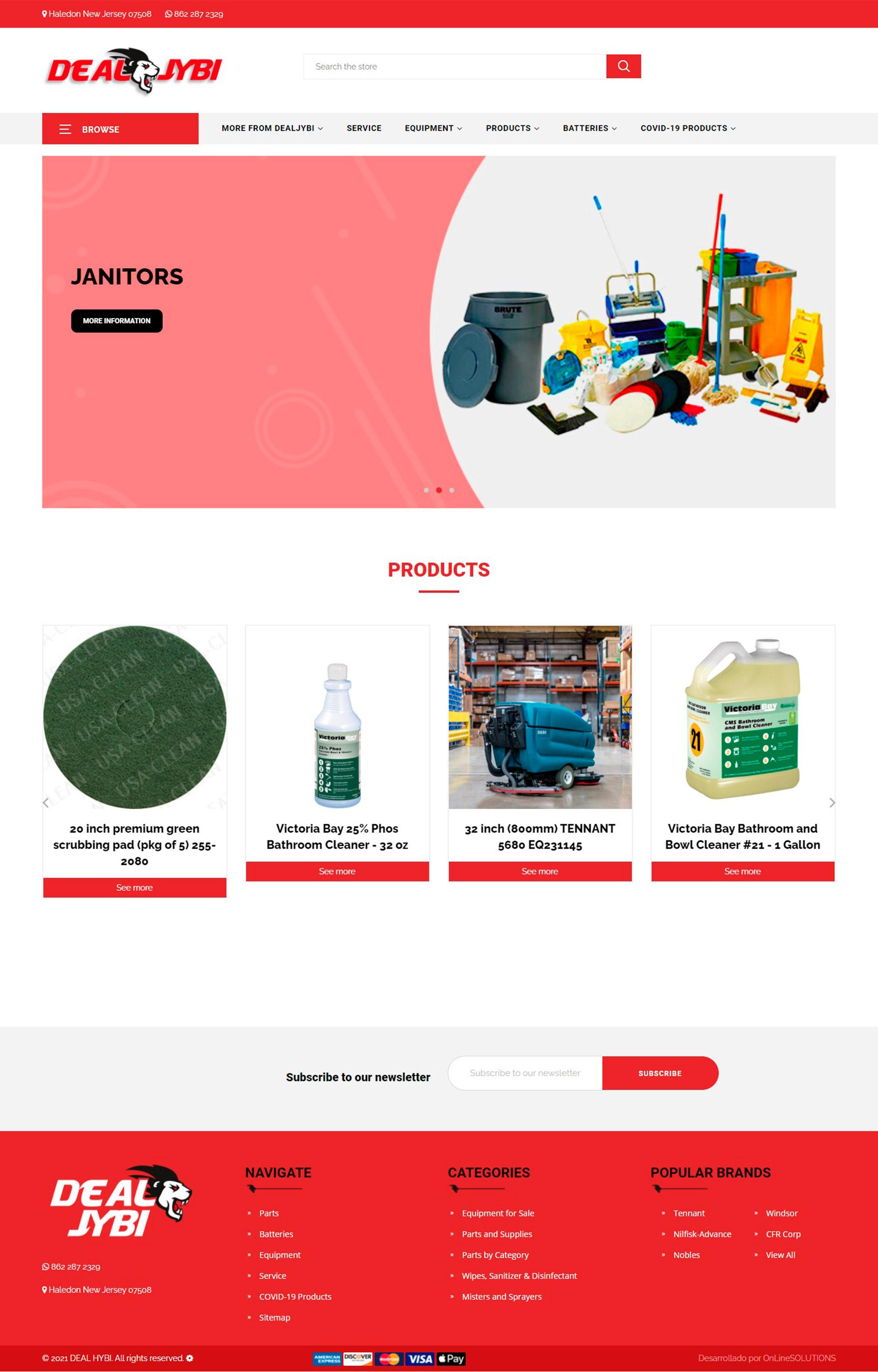 DEALJYBI Página web administrable
