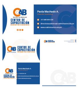 CENTRO DE CAPACITACIÓN ACCOUNTING Y BUSINESS Diseño de Logotipo e Imagen Corporativa