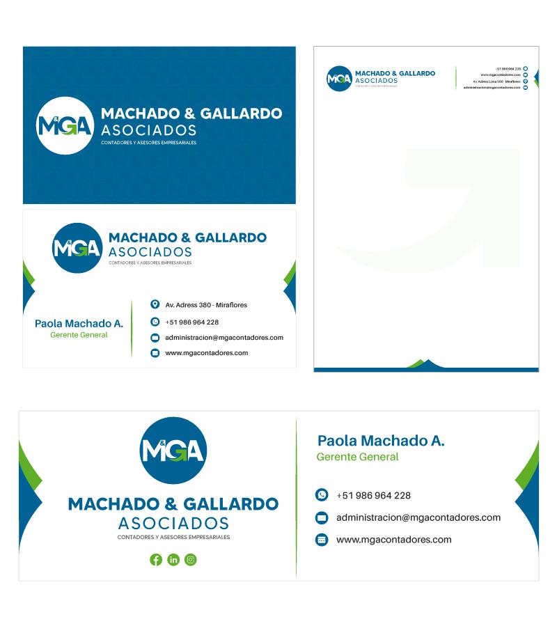 MACHAGO Y GALLARDO ASOCIADOS Diseño de Logotipo e Imagen Corporativa