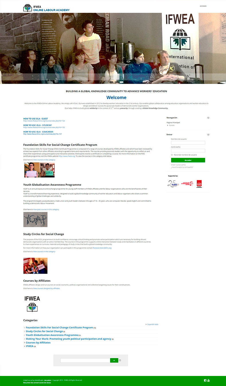 Aula Virtual en Moodle<br><br>