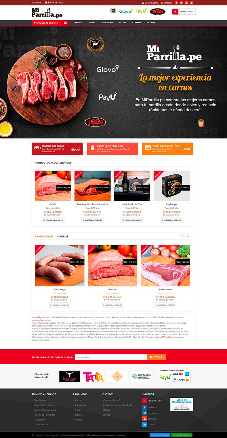 Página web y tienda virtual