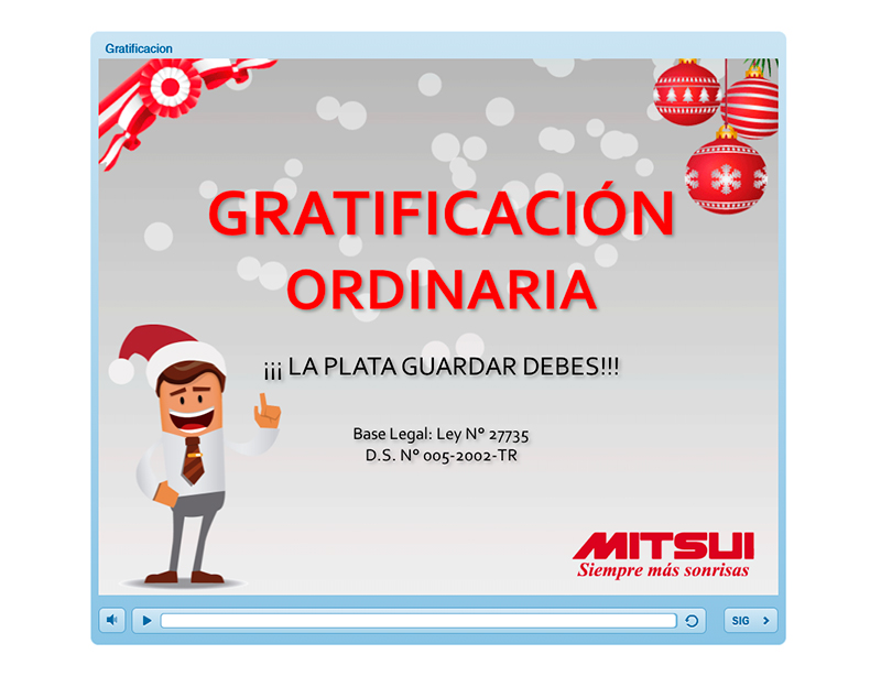 gratificacion ordinaria