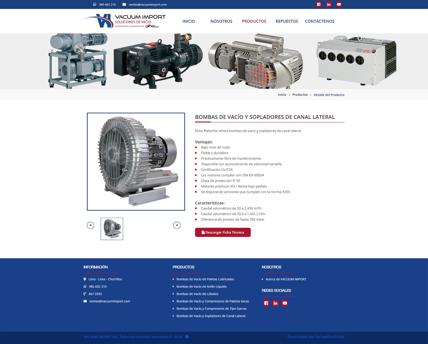 Página web administrable